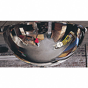Full Dome Mirror,48In.,Galv Back Acrylic