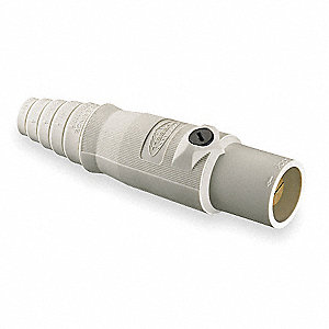 Connector,Double Set Screw,Wht,Male