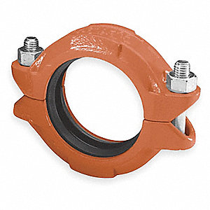 "Ductile Iron Standard Coupling, 6"" Nominal Size, Grooved Connection Type"