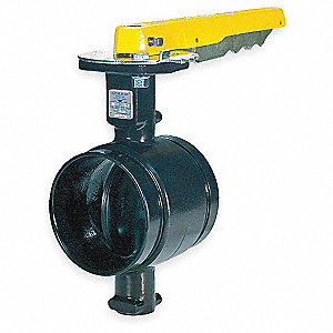 Butterfly Valve,Grooved,6 In,Iron