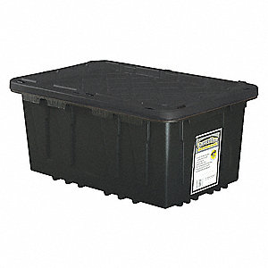 Storage Tote,14-1/2 In. H,30-3/4 In. L
