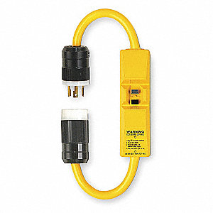 Line Cord GFCI, 240VAC Voltage Rating, NEMA Plug Configuration: L6-30P, Number of Poles: 2