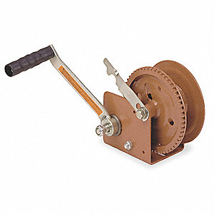 Hand Winch,Spur Gear,Brake,1200 lb.