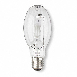 HID Lamp, Metal Halide Lamp Type, ED28 Lamp Shape, Enclosed Fixture Type, 400 Watts