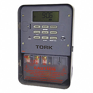 Electronic Timer, 40 Amps, 120VAC Voltage, Operation Mode: 7 Days, Number of Channels: 1