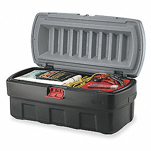 "Attached Lid Container, 4.67 cu. ft. Volume Capacity, 34-1/2"" Outside Length, 16-3/8"" Outside Width"
