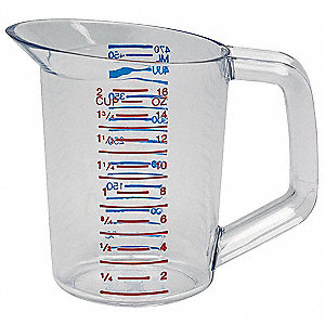 Polycarbonate Measuring Cup,1 Pint