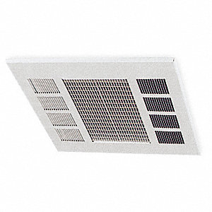 Electric Convection Ceiling Heater, Recessed, Voltage 208, Watts 4000/3000/2000