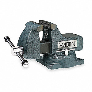 "6"" Cast Iron Mechanic's Vise, 4-1/8"" Throat Depth"