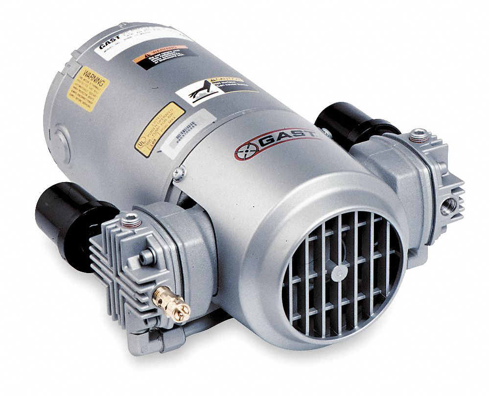 Gast 1 3 hp piston air compressor 115vac 100 100 max for Gast air motor distributors