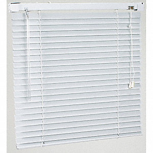Mini Blinds,L 72 In,W 47 In, Alabaster