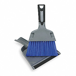 Mini Dust Pan With Brush, Overall Length 8-1/2""