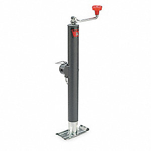 Trailer Jack,Top Wind,Capacity 2000 Lb