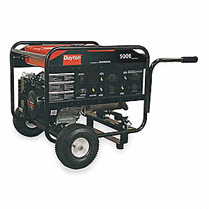 Portable Generator, 120/240 Voltage, 5000 Rated Watts, 9630 Surge Watts, 41.7/20.8 Amps @ 120/240V