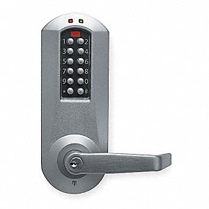 Electronic Keyless Lock, Entry with Key Override, Satin Chrome, Series E5000