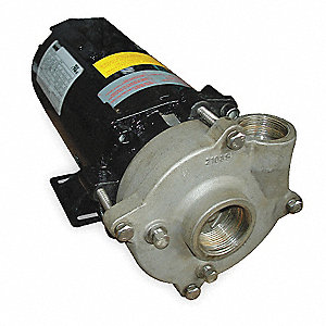 Stainless Steel 1-1/2 HP Centrifugal Pump, 3 Phase, 208-230/460 Voltage