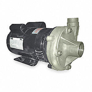 Stainless Steel 1/2 HP Centrifugal Pump, 115/230VAC Voltage, 8.4/4.8 Amps