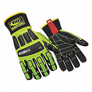 Uncoated Cut Resistant Gloves, ANSI/ISEA Cut Level 3, None Lining, Hi-Vis Green, L, PR 1