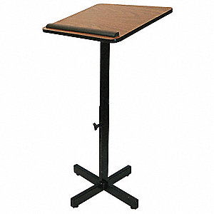 Lectern,Walnut,30-44 In. H,Walnut