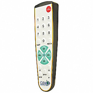 Large Button Universal Clean Remote Control for Healthcare, Big Buttons