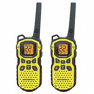 FRS/GMRS Backlit LCD Waterproof Portable Two Way Radio, Number of Channels 22