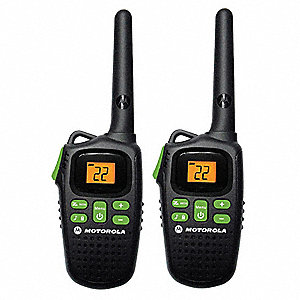 FRS/GMRS Backlit LCD Portable Two Way Radio, Number of Channels 22