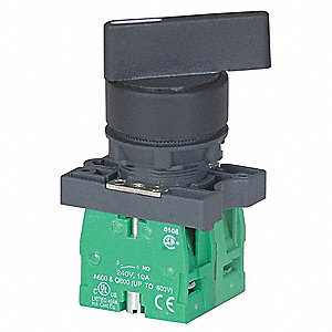 Non-Illuminated Selector Switch, Size: 22mm, Position: 3, Action: Maintained / Maintained / Maintain