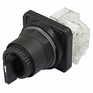 Non-Illuminated Selector Switch, Size: 30mm, Position: 3, Action: Momentary / Maintained / Maintaine