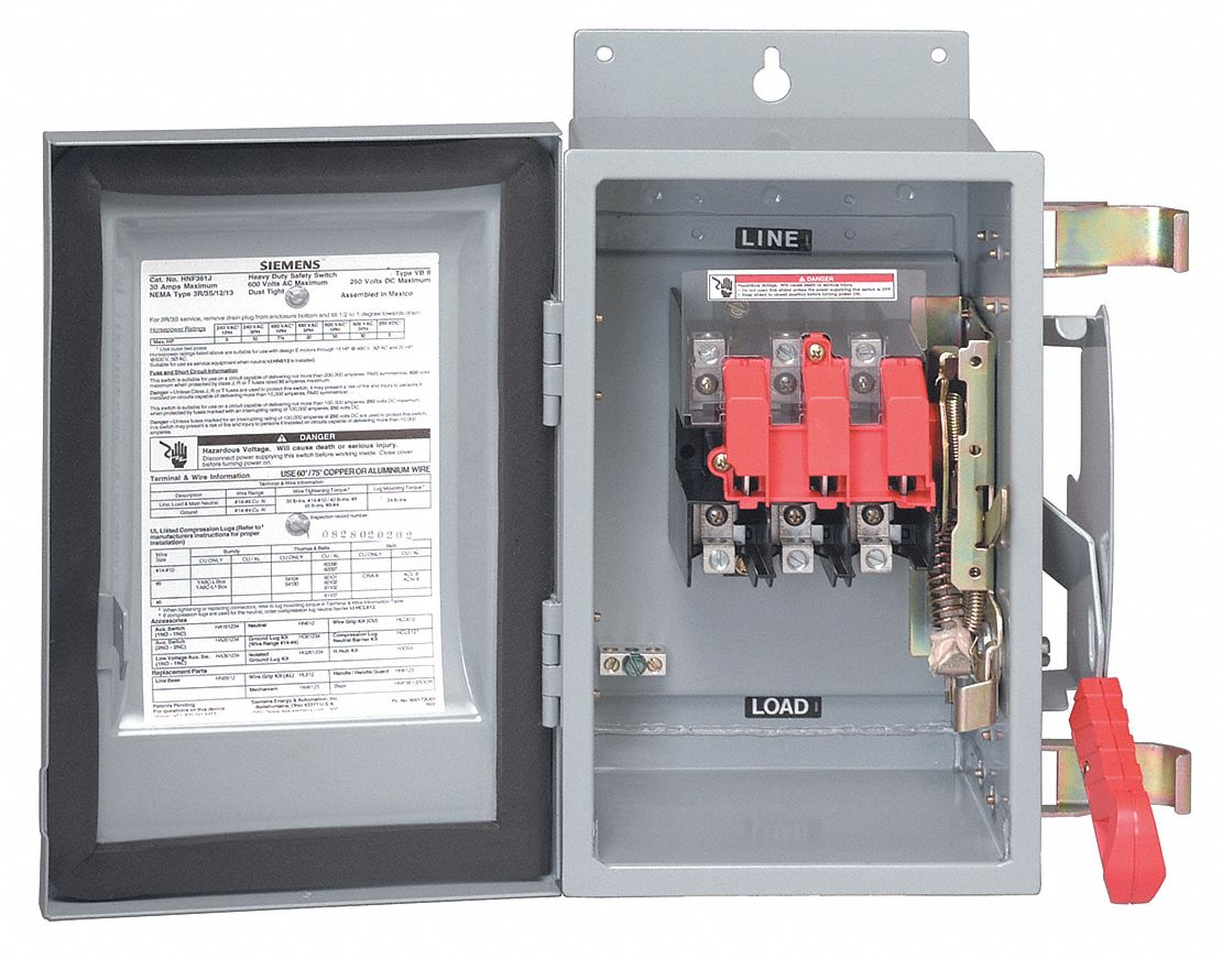 siemens fusible 600vac dc solar safety disconnect switch. Black Bedroom Furniture Sets. Home Design Ideas