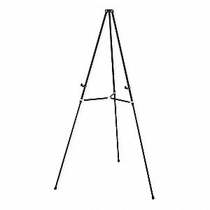 "Telescoping Display Easel, Lightweight, Aluminum Frame Material, 66"" Overall Height"