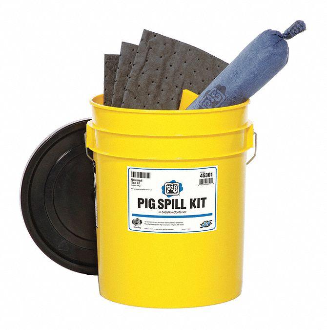 New pig spill kit station bucket universal gal