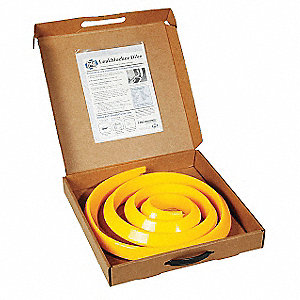 LeakBlocker Dike,Yellow,2-1/4 In