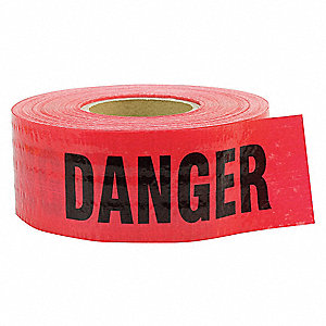 Barricade Tape,Danger,500 ft.,5 mil