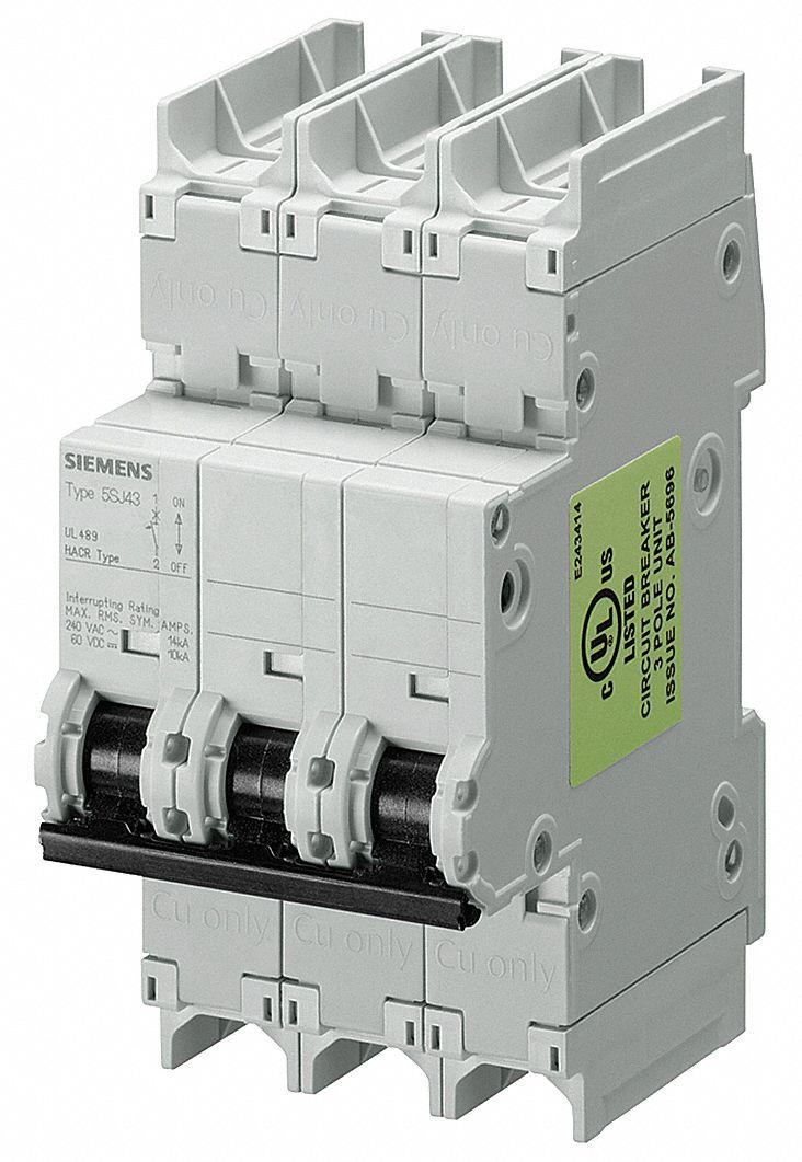 Siemens Miniature Circuit Breaker 30 Amps D Curve Type