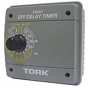 Electronic Off Delay Timer, 20 Amps, 120/240VAC Voltage, Operation Mode: 5 sec. to 3 hr., Number of
