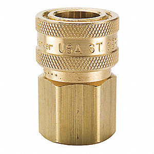 "3/4""-14 Brass Hydraulic Coupler Body, 3/4"" Body Size"