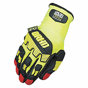 Impact Glove, Nitrile Palm Material, Yellow, S, PR 1