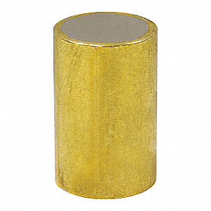 Brass Shielded Magnet,1/4 in.