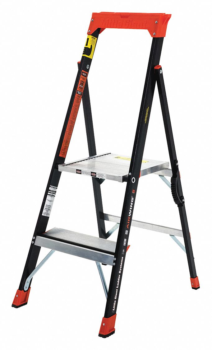 Little Giant Fiberglass Platform Stepladder 4 Ft Ladder