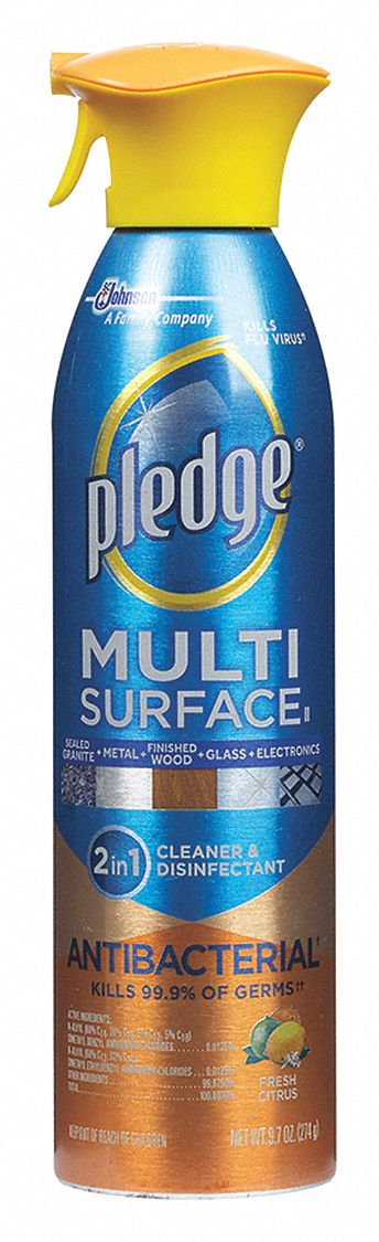 pledge multi surface cleaner citrus fragrance 9 7 oz aerosol can 6 pk 32gm47 652989 grainger. Black Bedroom Furniture Sets. Home Design Ideas