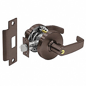 Door Lever Lockset,Right Angle,Grd. 1