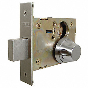 Antiligature Mortise Lockset,Knob,Grd. 1
