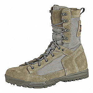 "8""H Men's Skyweight Boots, Plain Toe Type, Rough Out Suede, 1200D Nylon Upper Material, Sage Green,"