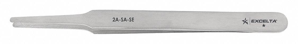 Excelta Tweezer Flat 4 3 4 In L Ss 32ne84 2a Sa Se