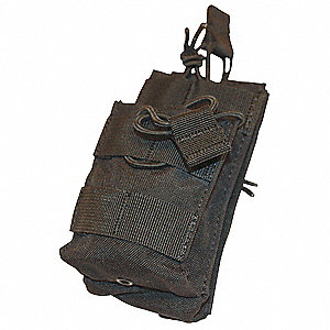 MOLLE Pocket,Sngl Stack M4 Mag,OD Green