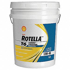 Rotella Diesel Motor Oil Rotella T6 5 Gal 0w 40 33gp68