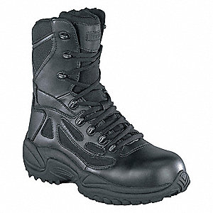 "8""H Men's Tactical Boots, Plain Toe Type, Waterproof Leather/Ballistic Nylon Upper Material, Black,"