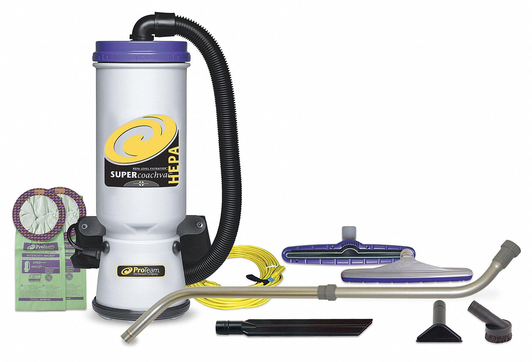 Proteam Backpack Vacuum Cleaners Filter Type Hepa Air