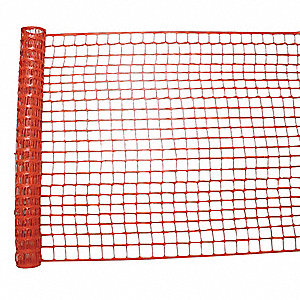 "Safety Fence, 2 x 2-3/8"" Mesh Size, 4 ft. Height, 100 ft. Length"