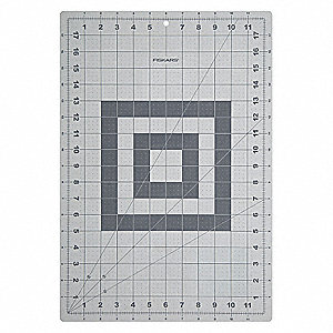 Cutting Mat,Self-Healing,12x18 In,Gray
